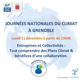 PCAET, collectivités et entreprises : Le Cabinet Lamy Environnement participe à l'organisation des Journées nationales du climat.